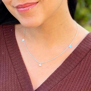 Petite Silver Hearts Necklace - AR TodayCharm Jewelry Company