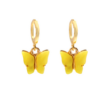 Load image into Gallery viewer, Black Butterfly Drop Earrings - AR TodayCharm Jewelry Company