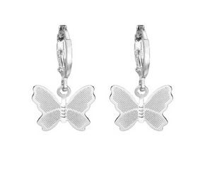 Silver Butterfly Drop Earrings - AR TodayCharm Jewelry Company
