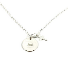 Load image into Gallery viewer, Hand Stamped Faith Disk Necklace