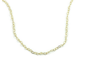 Interlocked Gold Heart Chain Necklace