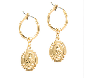 Medallion Hoop Earrings - AR TodayCharm Jewelry Company