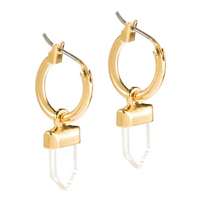 Clear Stone Hoop Earrings - AR TodayCharm Jewelry Company