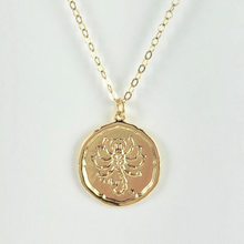 Load image into Gallery viewer, Scorpio Zodiac Medallion Disk Necklace - AR TodayCharm Jewelry Company