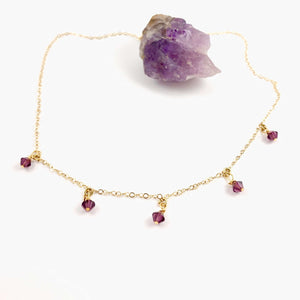 Amethyst Crystal Choker Necklace