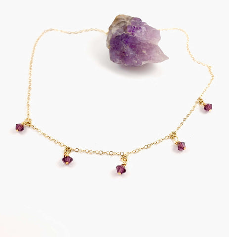 Amethyst Cristal Choker Necklace