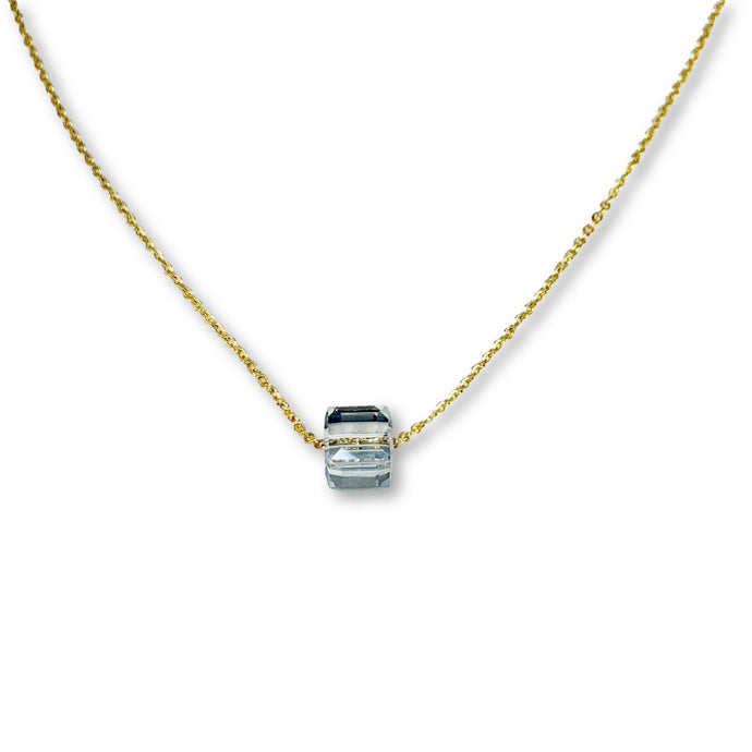 Diamond Crystal Cube Necklace - AR TodayCharm Jewelry Company