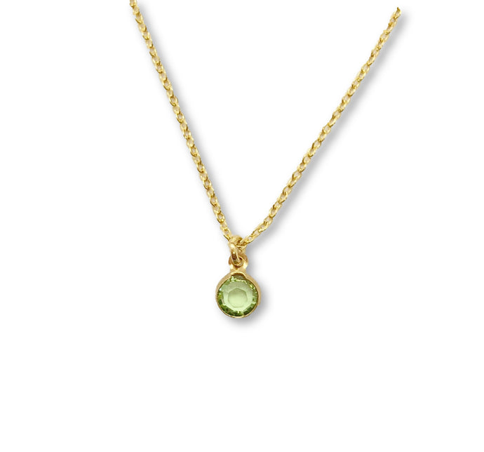 August Birthstone Necklace - AR TodayCharm Jewelry Company
