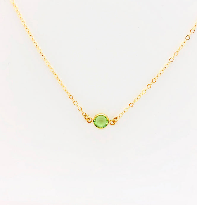 August Gemstone Necklace - AR TodayCharm Jewelry Company