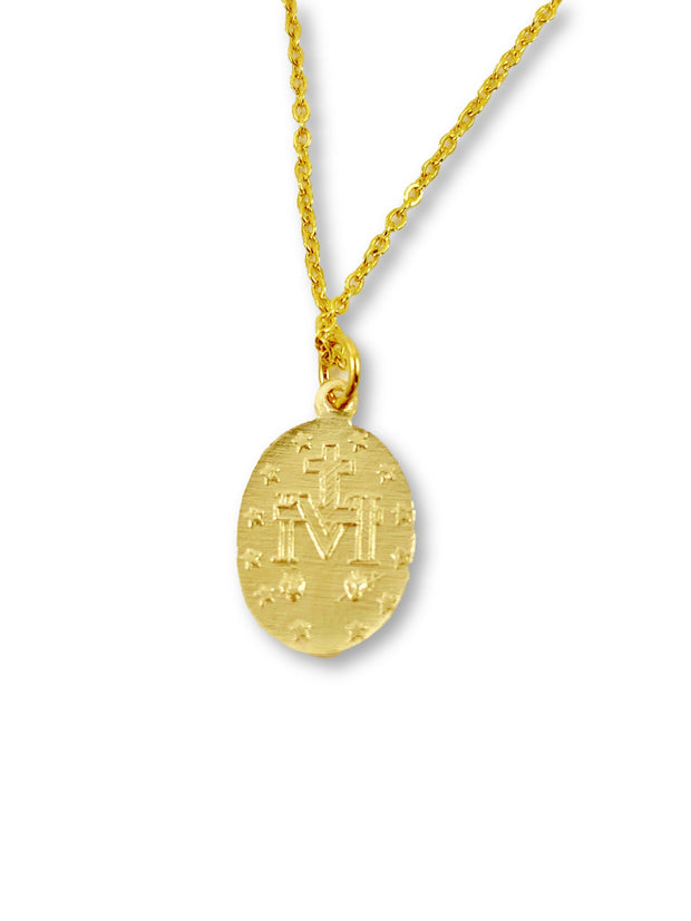 Virgin Mary Necklace, 14K Gold 1