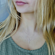 Load image into Gallery viewer, Silver Cross Necklace - AR TodayCharm Jewelry Company