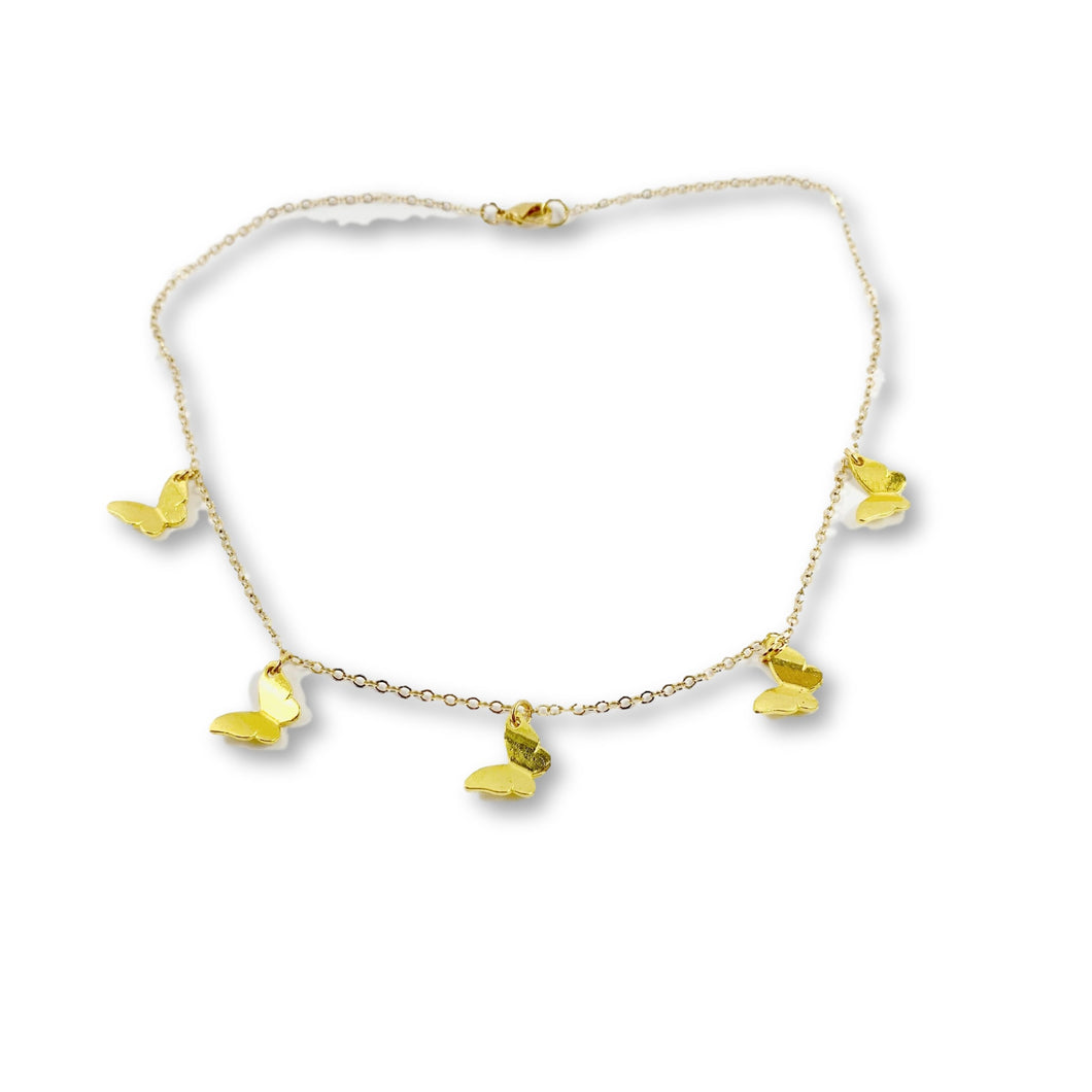 Gold Butterfly Chain - AR TodayCharm Jewelry Company