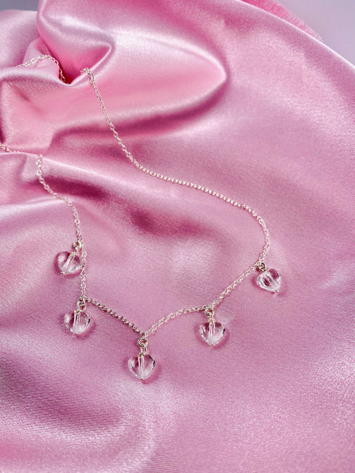 Clear Crystal Heart Necklace - AR TodayCharm Jewelry Company