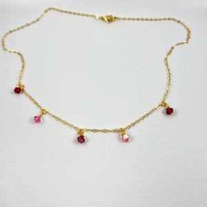 Ruby Red & Fuchsia Cristal Choker Necklace - AR TodayCharm Jewelry Company