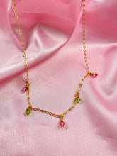 Load image into Gallery viewer, Pink & Green Cristal Choker Necklace - AR TodayCharm Jewelry Company