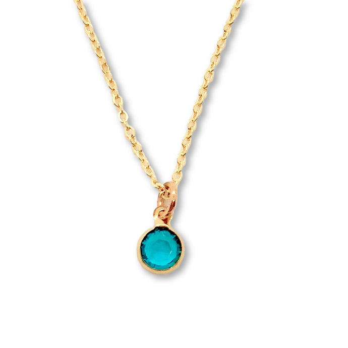 December Birthstone Necklace - AR TodayCharm Jewelry Company