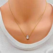 Load image into Gallery viewer, Diamond Crystal Cube Necklace - AR TodayCharm Jewelry Company