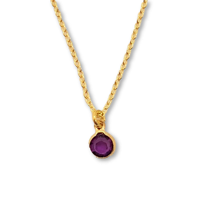 February Birthstone Necklace - AR TodayCharm Jewelry Company