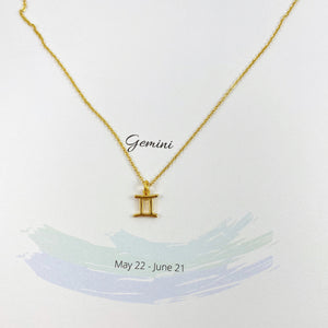 Gemini Zodiac Necklace - AR TodayCharm Jewelry Company