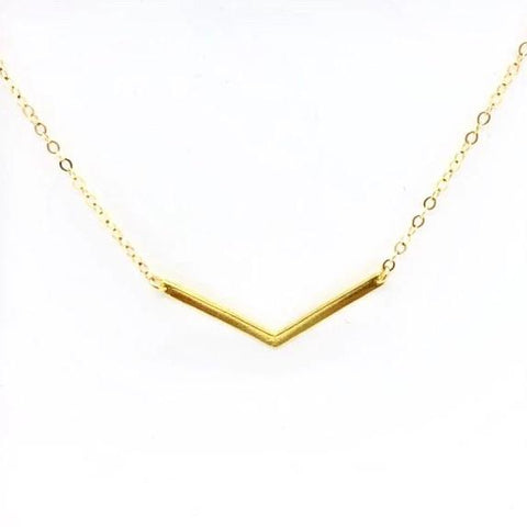 V Bar Necklace - AR TodayCharm Jewelry Company