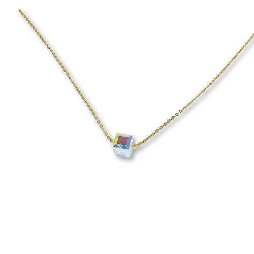 Alexandrite Crystal Cube Necklace - AR TodayCharm Jewelry Company