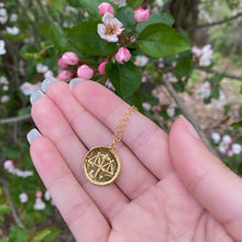 Load image into Gallery viewer, Libra Zodiac Medallion Disk Necklace - AR TodayCharm Jewelry Company