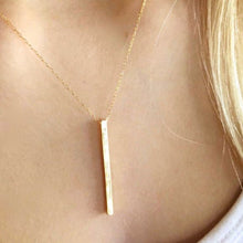 Load image into Gallery viewer, Gold Long Bar Necklace - AR TodayCharm Jewelry Company