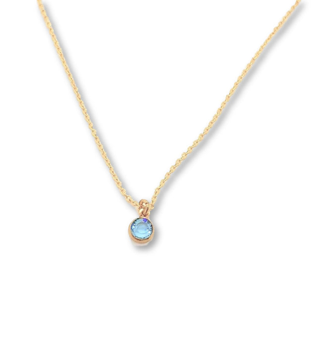 March Birthstone Necklace - AR TodayCharm Jewelry Company