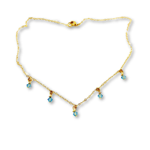 Aquamarine Cristal Choker Necklace - AR TodayCharm Jewelry Company