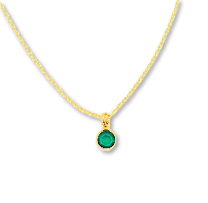 May Birthstone Necklace - AR TodayCharm Jewelry Company