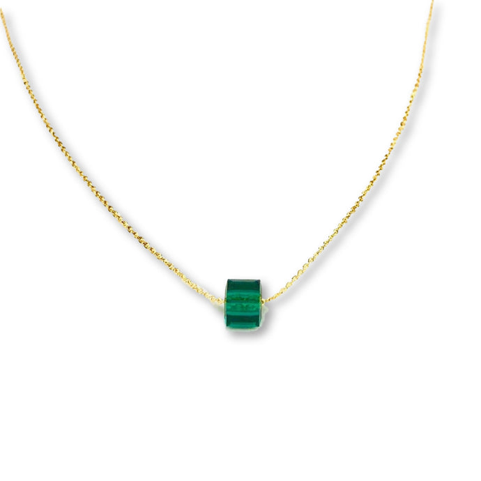 Emerald Crystal Cube Necklace - AR TodayCharm Jewelry Company