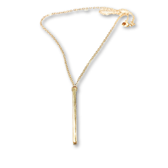 Gold Long Bar Necklace - AR TodayCharm Jewelry Company