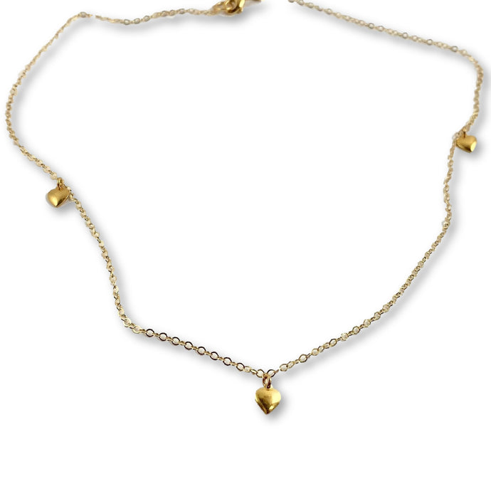 Petite Gold Hearts Necklace - AR TodayCharm Jewelry Company