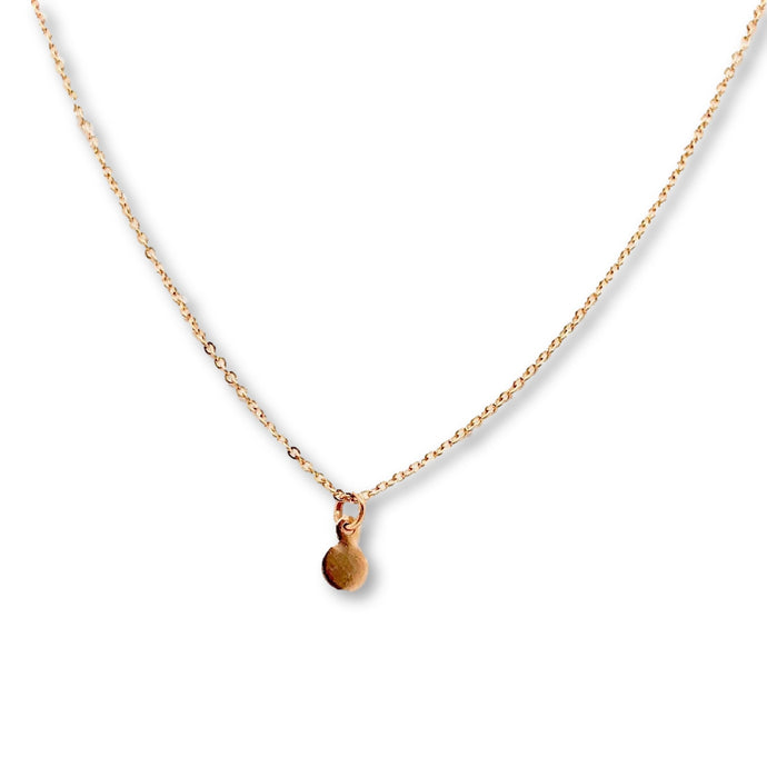 Rose Gold Dot Necklace - AR TodayCharm Jewelry Company
