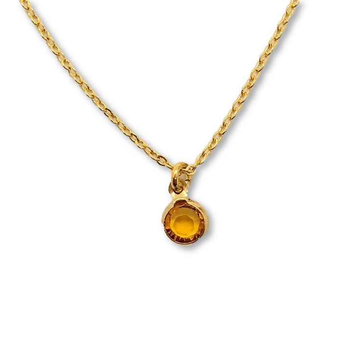 November Birthstone Necklace - AR TodayCharm Jewelry Company
