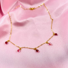 Load image into Gallery viewer, Ruby Red & Fuchsia Cristal Choker Necklace - AR TodayCharm Jewelry Company