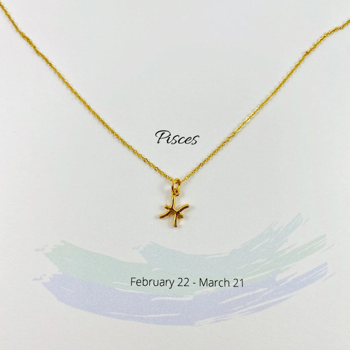 Pisces Zodiac Necklace - AR TodayCharm Jewelry Company