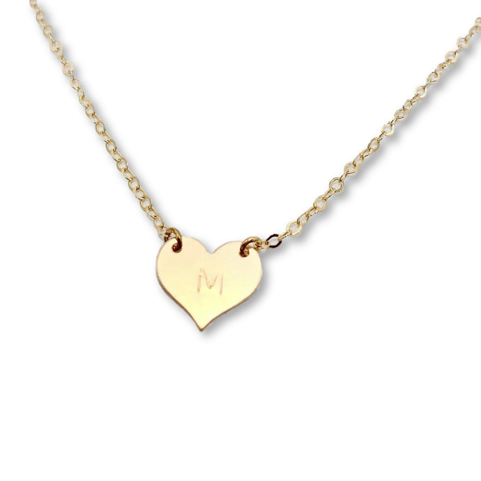 Gold Heart Connector Necklace - AR TodayCharm Jewelry Company
