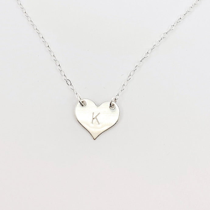 Silver Heart Connector Necklace - AR TodayCharm Jewelry Company