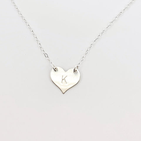Silver Heart Connector Necklace
