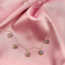 Load image into Gallery viewer, Rainbow Prism Crystal Heart Necklace - AR TodayCharm Jewelry Company