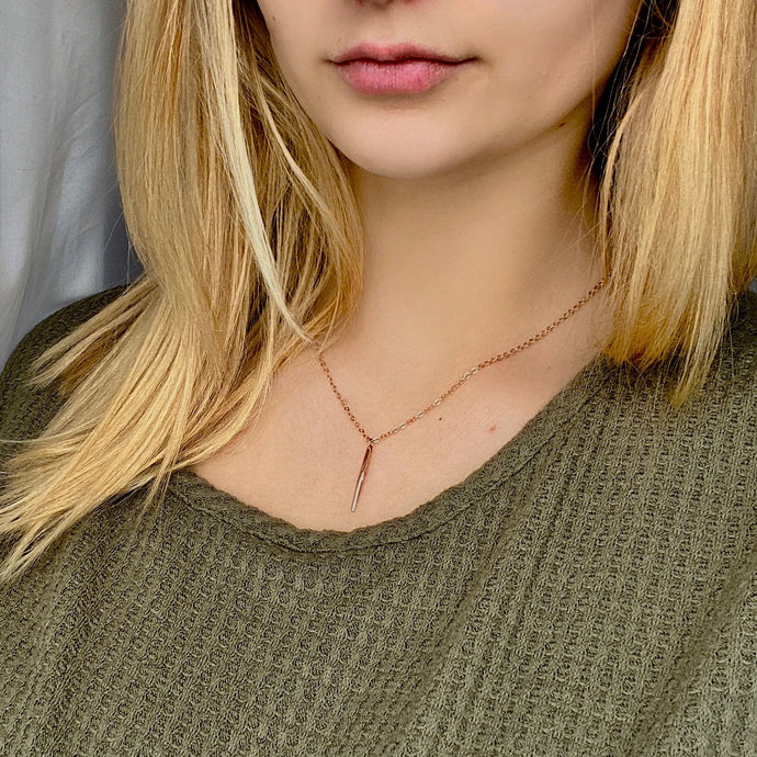 Malia Rose Gold Necklace - AR TodayCharm Jewelry Company