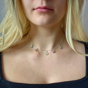 Rainbow Prism Crystal Heart Necklace - AR TodayCharm Jewelry Company