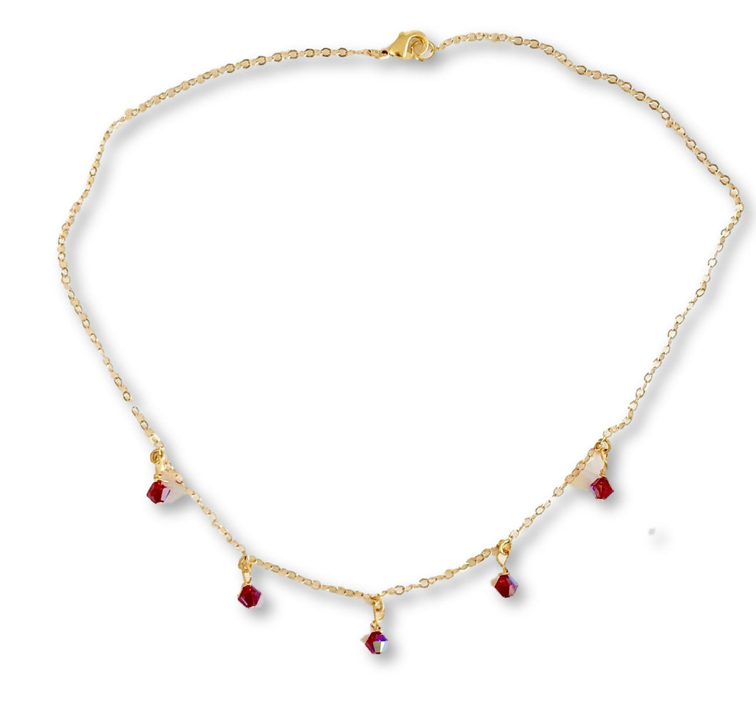Ruby Red Cristal Choker Necklace - AR TodayCharm Jewelry Company