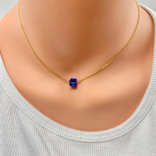 Load image into Gallery viewer, Sapphire Crystal Cube Necklace - AR TodayCharm Jewelry Company