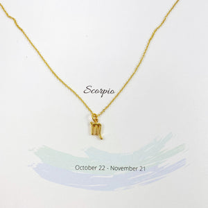 Scorpio Zodiac Necklace - AR TodayCharm Jewelry Company