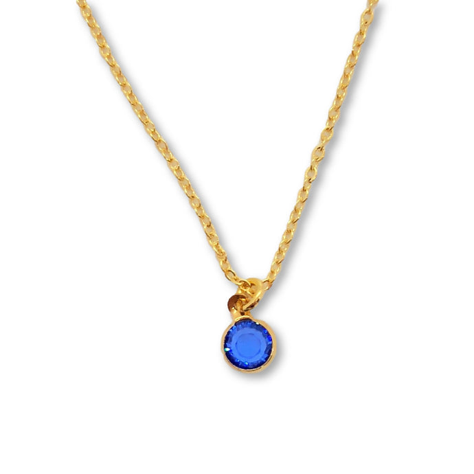 September Birthstone Necklace - AR TodayCharm Jewelry Company