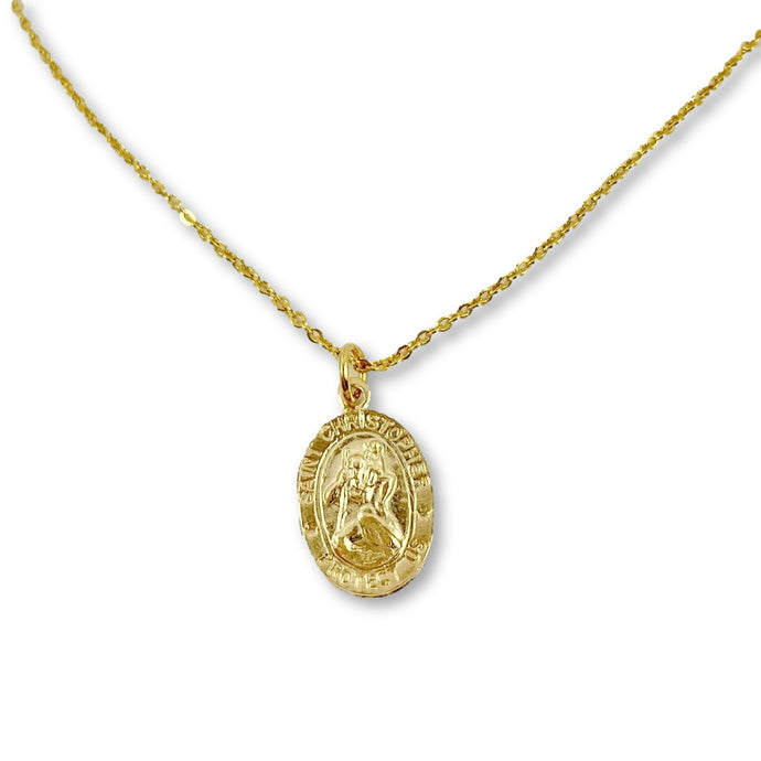 St. Christopher Medallion Necklace - AR TodayCharm Jewelry Company