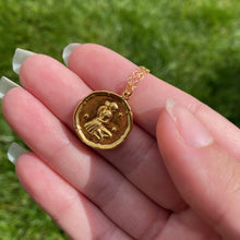 Load image into Gallery viewer, Virgo Zodiac Medallion Disk Necklace - AR TodayCharm Jewelry Company