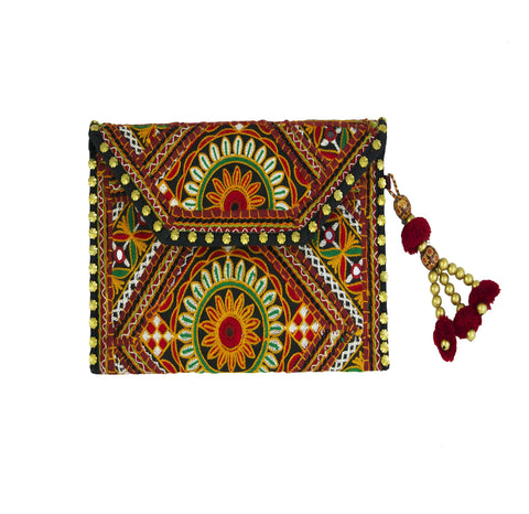 Stardust Embroidered Clutch